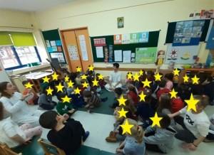 τα παιδιά συμμετέχουν σε διαδραστικά παιχνίδια